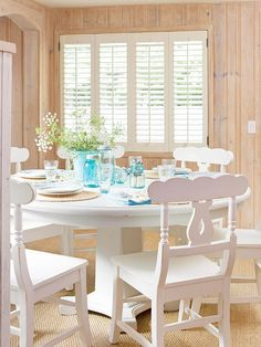Do Some Window Dressing-Make your home look good inside and out with decorative indoor shutters. Traditional wood shutters and plantation shutters add rustic appeal. Some even help insulate your cozy spaces.