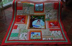 Kinderzimmerdekoration - Neu gestaltet! Farbenfrohe Decke mit Motiv! - ein Designerstück von meine-bunte-flickenecke bei DaWanda