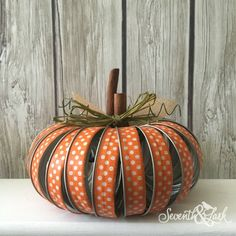 DIY KIT Mason Jar Pumpkin Mason Jar Lid Crafts Fall