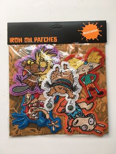 The Nick Box Nicktoons Iron on Patches Hey Arnold Rocko Beavers Nickelodeon | eBay