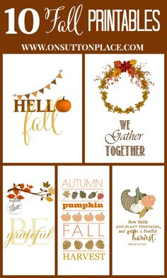 10 Fall Printables | On Sutton Place   Autumn 2014