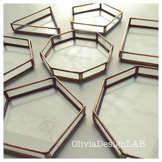 """107 Me gusta, 4 comentarios - OliviaCC (@oliviadesignlab) en Instagram: """"Bandejitas Bandejitas geométricas para tus pendientes, colgantes, tarjetas de visitas,…"""""""
