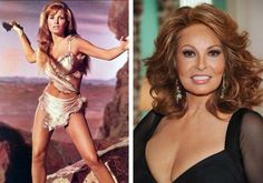 (PHOTO: dailymail.co.uk) Women of the 70's Then and Now  Raquel Welch  Famous for her role in One Million Years B.C., Raquel Welch was an iconic sex symbol of the industry for years. These days, she has branched into beauty products, and has been the face of multiple product campaigns.
