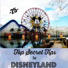25 Top Secret Tips For Disneyland