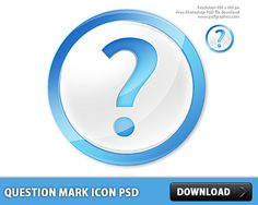 Awesome Question Mark icon PSD. Glossy web 2.0 icon made in Photoshop. Simple question mark icon with a blue question symbol in it. Can be used in web sites or desktop applications for help support faq or question icon. All elements are separate objects grouped and layered.  #circle #downloadpsd #FAQ #File #free #freepsd #glossy #icon #icons #images #mark #orb #psd #Query #Question #resources #sign #Sources #templates Check more at http://psdfinder.com/free-psd/question-mark-icon-psd