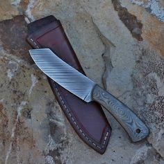 Custom spaypoint camp knife , canvas micarta