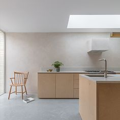 Natural clay wall finishes & clay wall systems from Clayworks UK Minimalism Interior, Kitchen Interior, Interior, Contemporary Kitchen Design, Contemporary Kitchen, Plywood Kitchen, Polished Plaster, Home Kitchens, Kitchen Design