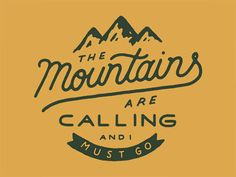 The Mountains by Zachary Smith - 40 Vintage Logo Designs Inspired by the Great Outdoors Typography Letters, Typography Design, Creative Typography, Folders, Logos, Logo Branding, Web Design, Graphic Design, Type Design