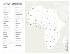 Key for printable Africa countries quiz (pdf)