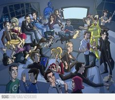 Everybody in just one image (,big bang theory,house,the office,doctor who,sherlock,glee,30 rock,star trek,how i met your mother)