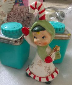 Vintage Lefton Christmas Candy Cane boy