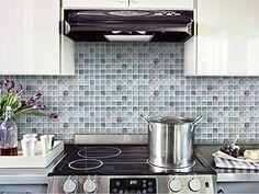 Beaustile Mono Crome Silver Mosaic Wall Sticker Pack Of 2 Home Decor Fire  Retardant Backsplash Wallpaper Bathroom Kitchen DIY Plain Design *** More  Info ...