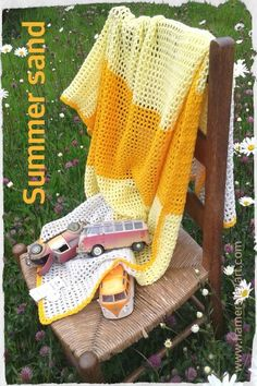Perfect for playtime! This 100% cotton, fabulously retro throw, is hand crocheted in Waterford. Measuring 100cm by 135cm this kitch creation would be a worthy addition to any classic camper. For orders and enquires please e-mail hamersleyart@gmail.com www.hamersleyart.com