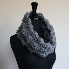 Rustic Cowl in Light Gray by NicoleandMom on Etsy, $40.00