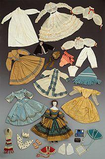 Rare Handmade Doll Trousseau From Civil War Era