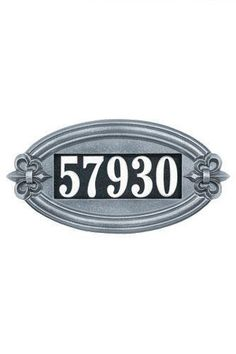 This elegant cast aluminum address plaque has a heavy duty powder coated finish and is built to withstand any weather conditions. The Fleur de Lis Oval Illuminator address plaque holds up to inch numbers. Garden Plaques, Whitehall Products, Electric House, Address Plaque, Address Signs, Address Numbers, Tear, White Vinyl, Home Signs