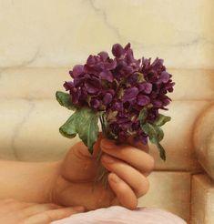 John William Godward ( 1861-1922) - Detail from 'Violets, Sweet Violets' (1906)