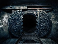 The doors were never meant to be opened again. They couldn't open. But here we are, gazing into the chasm between the compromised barriers, wondering what had opened them so skillfully. No one remembers what was behind the doors... just that it should never get out.