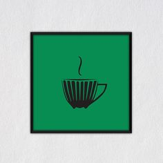 Original Coffee  Screenprint Hand Silkscreen Coffee Art On Color Backgroun d Coffee Poster Home decor , handmade by Evartstudio
