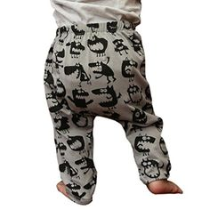 Baby TrousersLeegor Boy Lovely Dinosaurs Print Elasticity Long Pants 80 gray *** Want additional info? Click on the image.