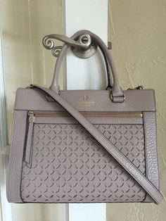 Kate Spade Perri Lane Romy Satchel Full Size Large Warm Putty | eBay