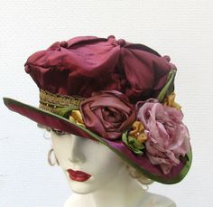 Edwardian Downton Abbey Style Hat | Flickr - Photo Sharing! Gail Bartlett - Vintage Style Hats by Gail http://www.flickr.com/photos/creationsbygail/8222696680/