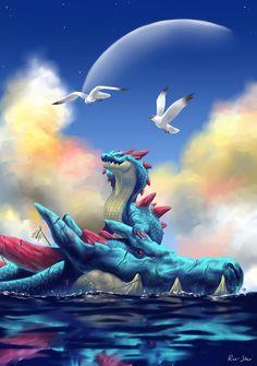 Monster Hunter Series, Monster Hunter Art, Magical Creatures, Fantasy Creatures, Fantasy Dragon, Fantasy Art, Cry Anime, Anime Art, Monster Hunter