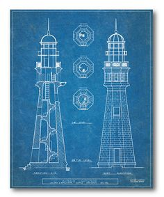Look at this Lighthouse Blueprint I Wrapped Canvas on #zulily today!