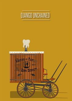 Django Unchained (2012) ~ Minimal Movie Poster by David Peacock #amusementphile