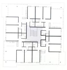 Architecture Plan, Residential Architecture, Modern House Plans, House Floor Plans, Hotel Floor Plan, Floor Plan Layout, Residential Complex, Apartment Plans, Cool Apartments
