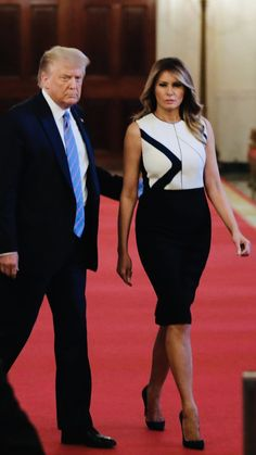 Malania Trump, Trump One, Milania Trump Style, Melania Knauss Trump, Trump Is My President, First Lady Melania Trump, Style Icons, Donald Trump, Peplum Dress