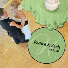Reception Dance Floor Decal   #exclusivelyweddings   #limegreenwedding