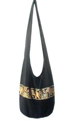 Shoulder Bag Cross Body Bag Handmade Bag Marley Bag Hobo Crossbody Bag Hippie Boho bohemian bag Purse Gift /  Black Color Sling Elephant bag by Avivahandmade on Etsy