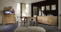 Salle à manger complète couleur chêne clair contemporaine ELIOS 4