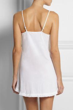 Skin|Organic pima cotton nightdress|NET-A-PORTER.COM