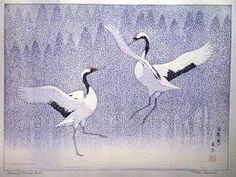 View and purchase art by Toshi Yoshida and other Japanese artists. Extensive online gallery includes hundreds of fine prints. Japanese etchings, wood block, silkscreen, stencil from famous artists. Japanese Crane, Art Japonais, Eternal Love, Japanese Painting, Japanese Prints, Japan Art, Woodblock Print, Animal Paintings, Chinese Art