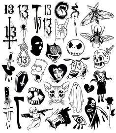 Kritzelei Tattoo, 13 Tattoos, Doodle Tattoo, Dope Tattoos, Doodle Art, Tatoos, Big Tattoo, Sketch Tattoo Design, Tattoo Sketches