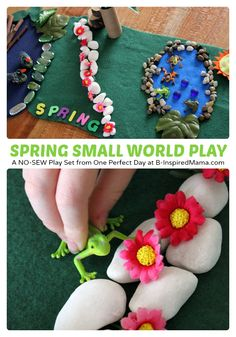 Spring Small World Kids Play at B-Inspired Mama.  Repinned by Apraxiakidslearning