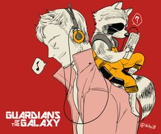 Star-Lord and Rocket – Guardians of The Galaxy–Art by 28 - Marvel Fan Arts and Memes Heros Comics, Comic Book Heroes, Marvel Dc Comics, Marvel Funny, Comic Books, Gardians Of The Galaxy, Avengers, Peter Quill, Cartoons
