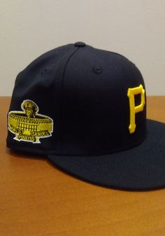 New Era Pittsburgh Pirates Mens Black QT World Series Side Patch 59FIFTY Fitted Hat - 59004729