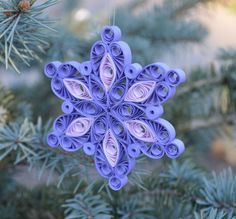 Christmas decoration/quilled paper ornament by HandmadeByHajni on Etsy https://www.etsy.com/listing/254243910/christmas-decorationquilled-paper