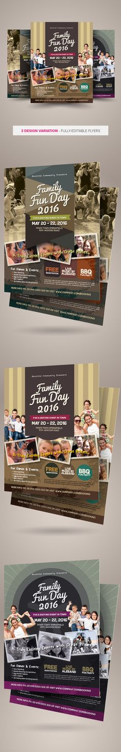 Family Fun Day Flyers vol.03 on Behance