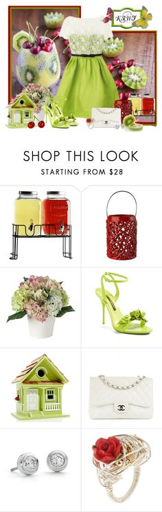 """""""kiwi"""" by frane-x ❤ liked on Polyvore featuring Circle Glass, Pols Potten, Sophia Webster, Home Bazaar, Chanel, Blue Nile and First People First"""