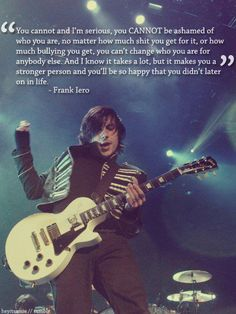 Find images and videos about my chemical romance, mcr and frank iero on We Heart It - the app to get lost in what you love. My Chemical Romance, Band Quotes, Band Memes, Mcr Quotes, Mcr Memes, Motivational Quotes, Frank Iero, Emo Bands, Music Bands