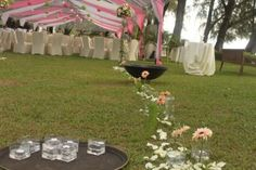 Pink Theme Garden Decoration ~ By: Trinity Events Enterprise http://www.wedding.com.my/category-florist-and-decorations/7