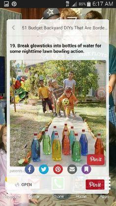Glow stick lawn bowling