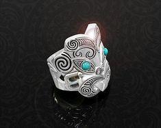 Maori Ring, New Zealand Tribal Warrior Ring, Handmade by Tuwharetoa Bone® God of War Warrior Ring, Tribal Warrior, Fish Hook Necklace, Unique Rings, Unique Jewelry, Maori Designs, Hawaiian Jewelry, Bone Carving, God Of War