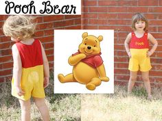 Disney Winnie the Pooh Inspired jon-jon/outfit/clothes/shorts for boys sizes 1,2,3,4