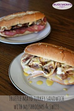 Truffle Mayo Turkey Sandwich with Mushrooms / by BusyMomsHelper.com #OscarMayerNatural #sponsored