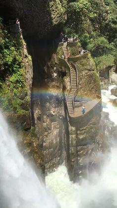 Pailon Del Diablo waterfall in Ecuador